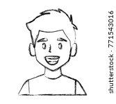 man face smiling cartoon | Shutterstock .eps vector #771543016
