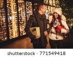 young smiling couple in... | Shutterstock . vector #771549418