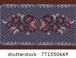 vector floral pattern. the... | Shutterstock .eps vector #771550669