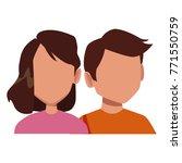 couple faceless avatar | Shutterstock .eps vector #771550759