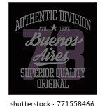 buenos aires sport t shirt... | Shutterstock . vector #771558466