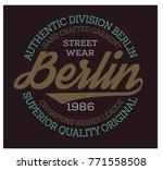 berlin sport t shirt design ... | Shutterstock . vector #771558508