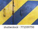 yellow door alternates with... | Shutterstock . vector #771559750