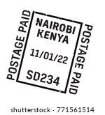 nairobi postage stamp.... | Shutterstock . vector #771561514