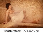 handsome young muscular man... | Shutterstock . vector #771564970
