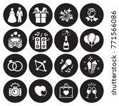 wedding  marriage icons set.... | Shutterstock .eps vector #771566086