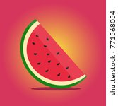 juicy appetizing watermelon on... | Shutterstock .eps vector #771568054