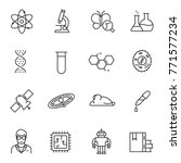 science icons set. line with... | Shutterstock .eps vector #771577234