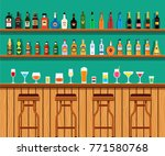 alcohol cocktail drinks on a... | Shutterstock .eps vector #771580768