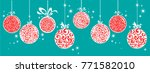 horizontal banner with... | Shutterstock . vector #771582010