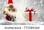 santa clause in snow | Shutterstock . vector #771584164
