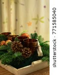 advent time decoration with a... | Shutterstock . vector #771585040