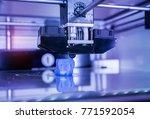 3d printer three dimensional... | Shutterstock . vector #771592054