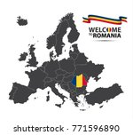 vector illustration of a map of ... | Shutterstock .eps vector #771596890