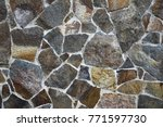 wall texture paved with stone ... | Shutterstock . vector #771597730