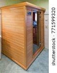 small wooden modern infrared... | Shutterstock . vector #771599320
