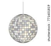 Mirrored Disco Ball Vector...
