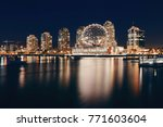vancouver city night view with... | Shutterstock . vector #771603604