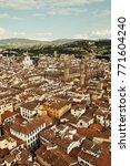 city skyline in florence...   Shutterstock . vector #771604240