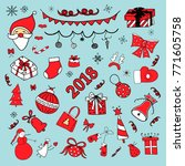 new year and christmas doodles | Shutterstock .eps vector #771605758