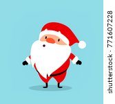 santa claus surprised. cute... | Shutterstock .eps vector #771607228