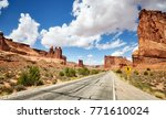 scenic road in arches national...   Shutterstock . vector #771610024