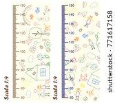measure growth  measure... | Shutterstock .eps vector #771617158