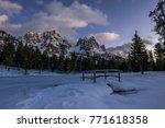 Night Alpine Winter Scenery...