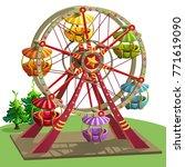 a ferris wheel for an amusement ... | Shutterstock .eps vector #771619090