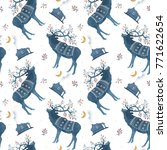 seamless pattern with... | Shutterstock . vector #771622654