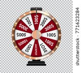 wheel of fortune  lucky icon... | Shutterstock .eps vector #771623284
