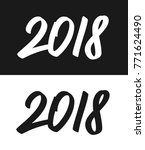 happy new year 2018 greeting... | Shutterstock . vector #771624490