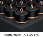 cylindrical tube boxes... | Shutterstock . vector #771629176
