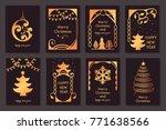 set of beautiful christmas... | Shutterstock .eps vector #771638566