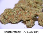 amnesia haze is a sativa... | Shutterstock . vector #771639184