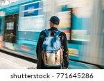 man standing in front of road... | Shutterstock . vector #771645286