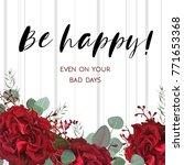 floral greeting card design... | Shutterstock .eps vector #771653368