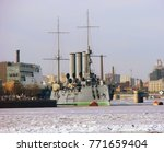 "cruiser aurora"". st. petersburg....   Shutterstock . vector #771659404"