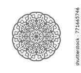 flower mandala. vintage... | Shutterstock .eps vector #771665746