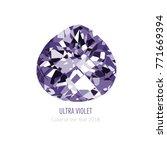 amethyst jewel stone mineral... | Shutterstock .eps vector #771669394