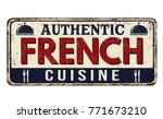 authentic french cuisine... | Shutterstock .eps vector #771673210