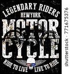 motorcycle label t shirt design ... | Shutterstock .eps vector #771675376