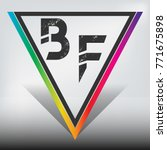 bf multicolor triangle with... | Shutterstock .eps vector #771675898
