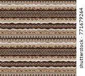 ethnic tribal seamless vector... | Shutterstock .eps vector #771679264