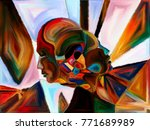 stained glass forever series.... | Shutterstock . vector #771689989
