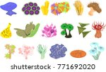 set of different species of... | Shutterstock .eps vector #771692020