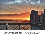 beautiful sunset over a... | Shutterstock . vector #771693124