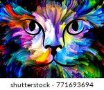 cat paint series. backdrop... | Shutterstock . vector #771693694