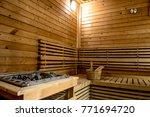 sauna room for good health.   Shutterstock . vector #771694720