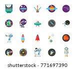 astronomy icon set | Shutterstock .eps vector #771697390
